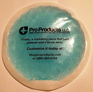 "4"" Round Blue Gel Packs with Cloth Backing Individual"